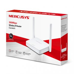 Wi-Fi N MERCUSYS Router, «MW301R», 300Mbps, 2x5dBi Antennas, 2xLAN Ports