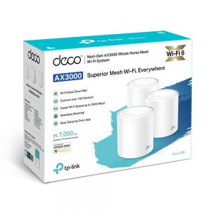 Whole-Home Mesh Dual Band Wi-Fi AX System TP-LINK, «Deco X60(3-pack)», 3000Mbps, MU-MIMO, Gbit Ports