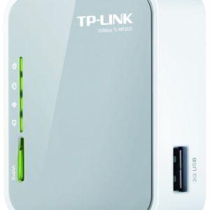 3G/4G Wi-Fi N TP-LINK Router, «TL-MR3020», 150Mbps, USB2.0 for Modem