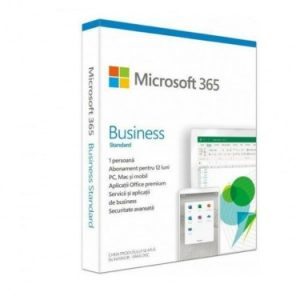 Microsoft 365 Business Standard Retail English Subscr 1 year CEE Only Medaless P6, MAC/WIN